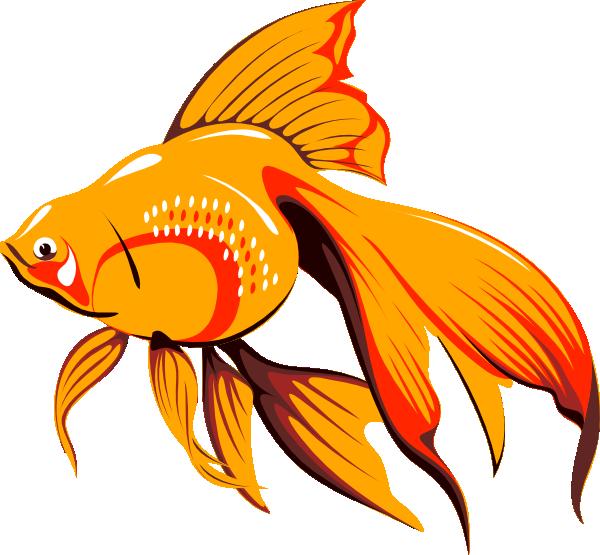 free vector Golden Fish clip art