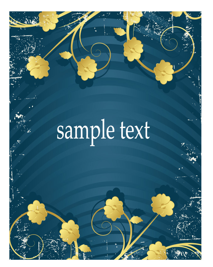 free vector Golden flower pattern vector