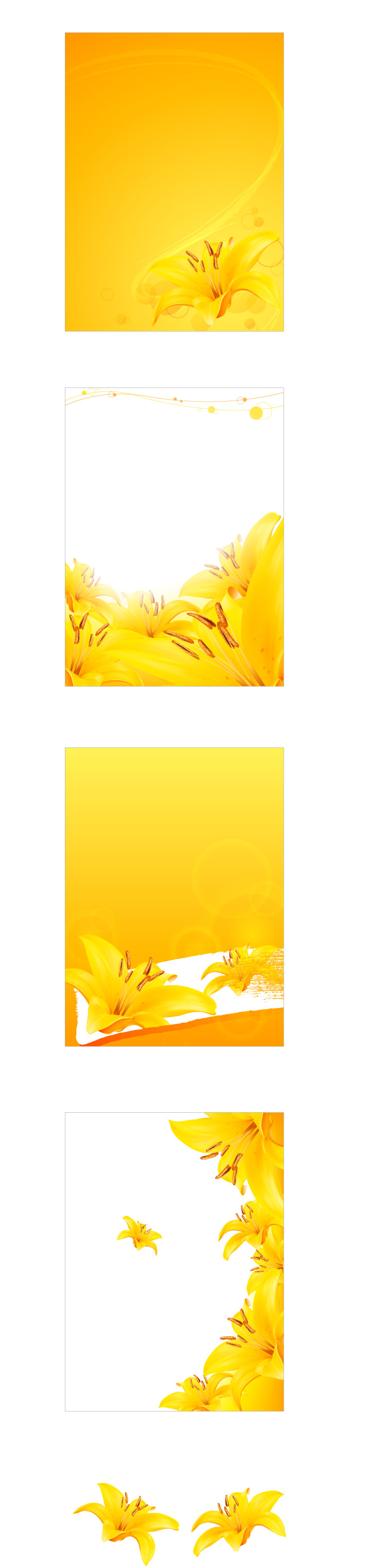 free vector Golden lily vector