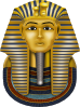 free vector Golden Mask King Tut clip art