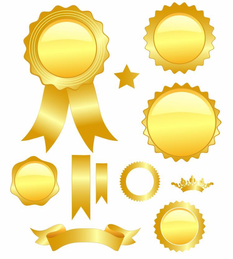 free vector Golden medals