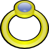 free vector Golden Ring With Gem clip art