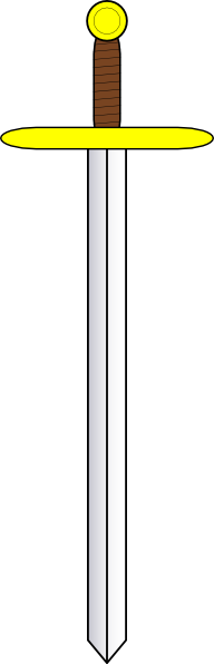 free vector Golden Sword clip art