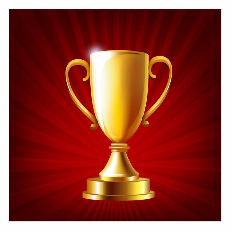 free vector Golden trophy cup