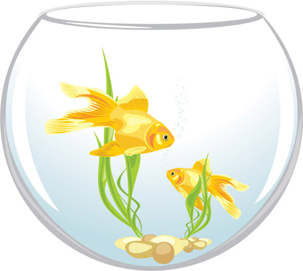 free vector Goldfish vector 2