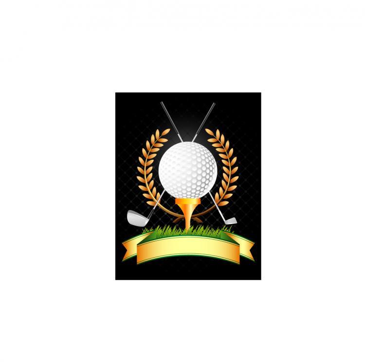 free vector Golf, golf clubs, wheat vector