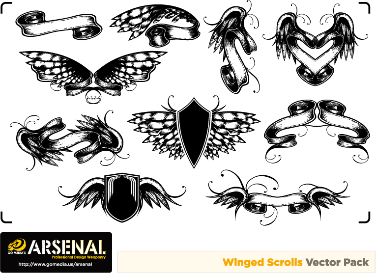 free vector Gomedia european classical pattern vector produced