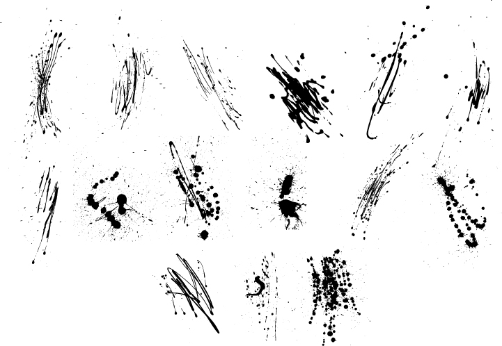 free vector Gomedia produced ink ink mark vector