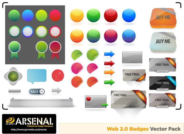 free vector Gomedia produced web20 icon vector