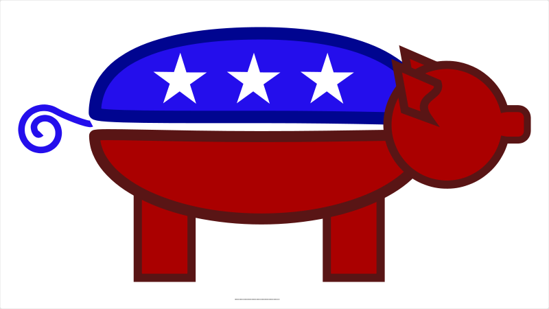 free vector GOP Pig