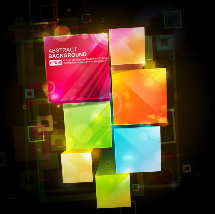 free vector Gorgeous box background 02 vector