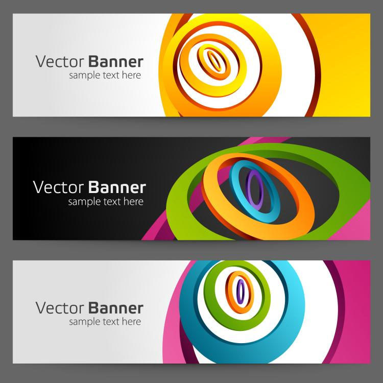 free vector Gorgeous bright banner02 vector