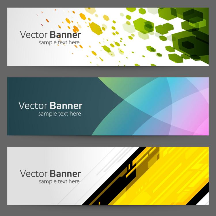 free vector Gorgeous bright banner03 vector