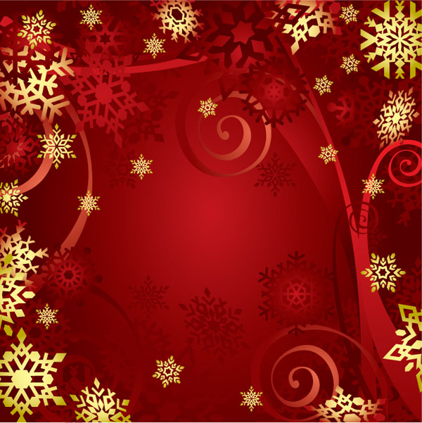 free vector Gorgeous bright christmas background pattern vector