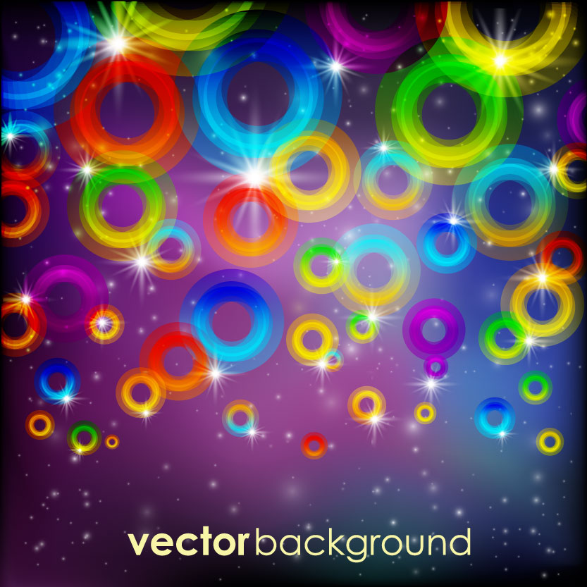 free vector Gorgeous bright dazzle effect vector