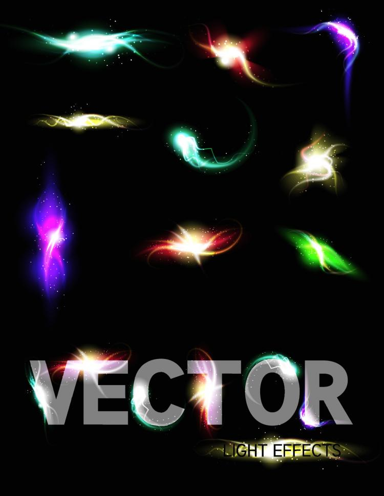free vector Gorgeous bright lighting effects 03 vector