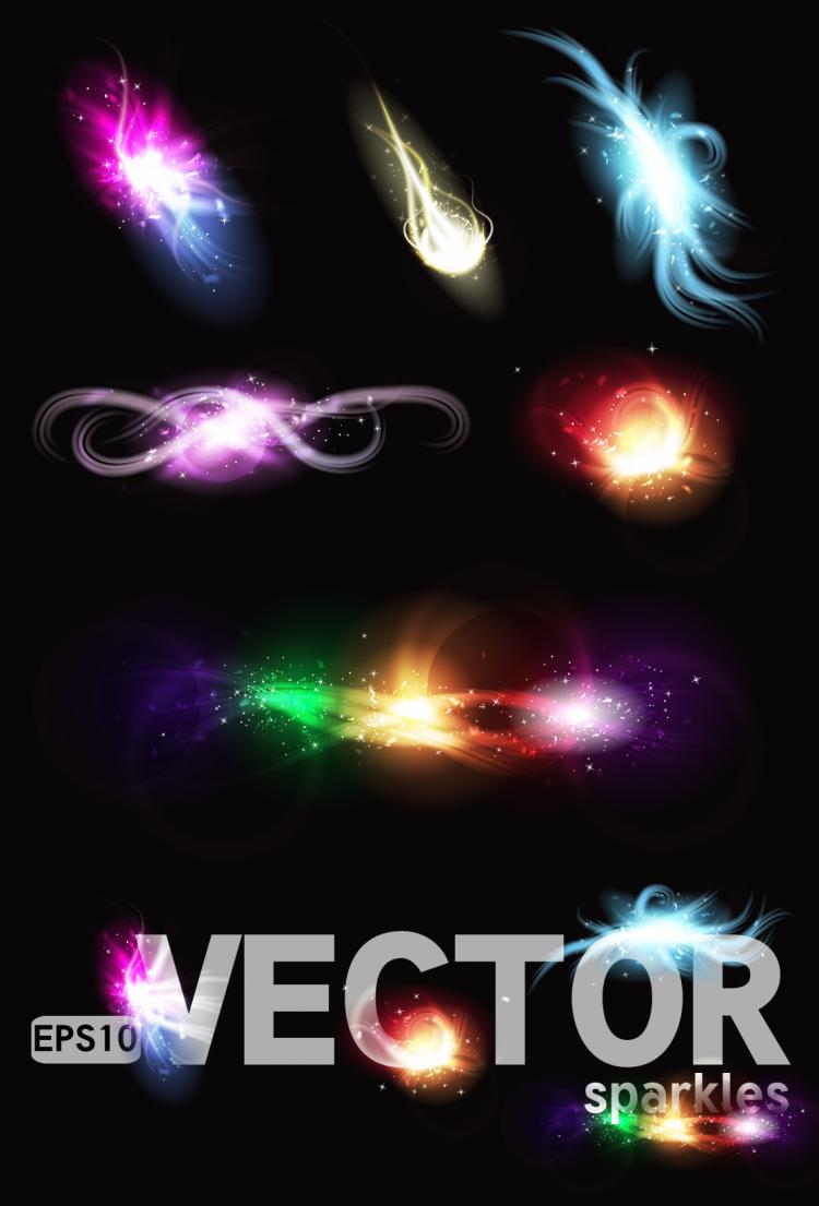 free vector Gorgeous bright lighting effects 04 vector