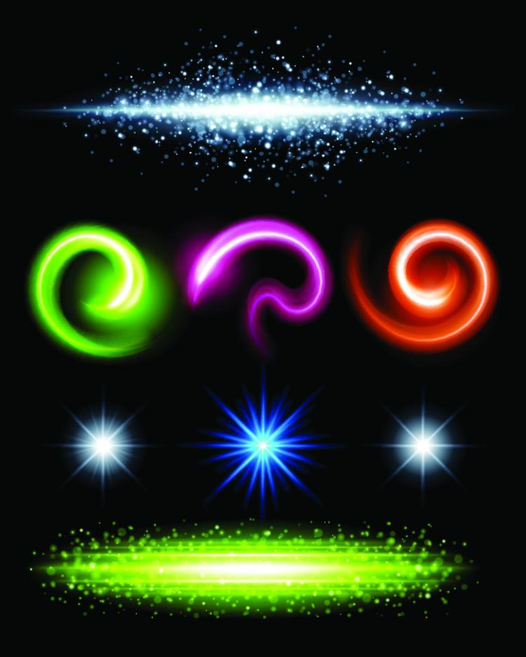 free vector Gorgeous bright lighting effects 06 vector