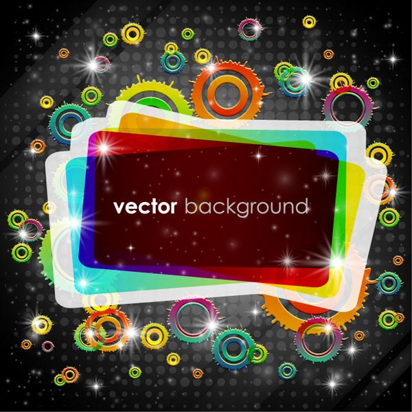 free vector Gorgeous bright rectangular graphics vector
