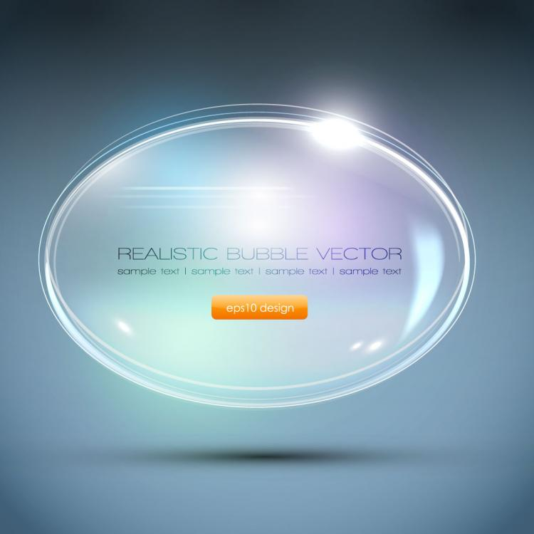 free vector Gorgeous bubble 03 vector