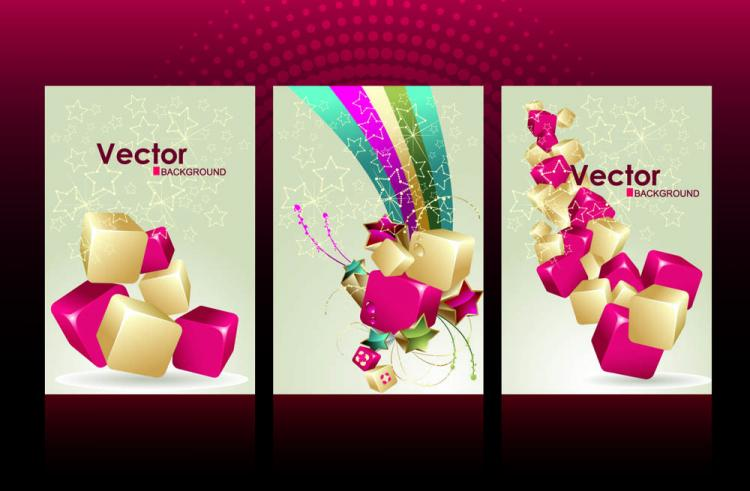 free vector Gorgeous card background 02 vector