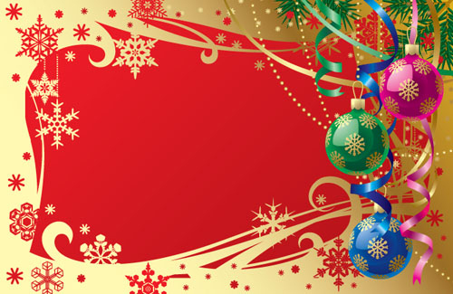 free vector Gorgeous christmas background 01 vector 14972
