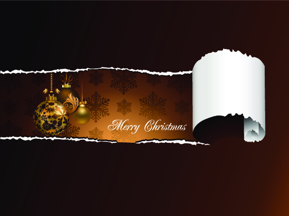 free vector Gorgeous christmas element vector