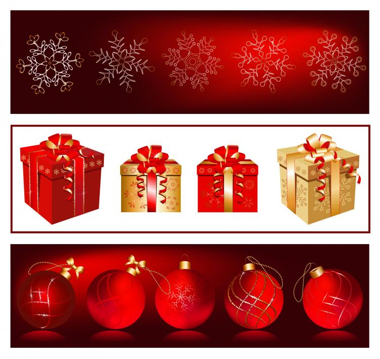 free vector Gorgeous christmas gift vector