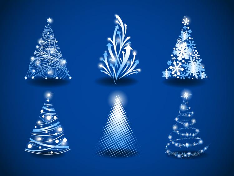 free vector Gorgeous christmas tree 03 vector