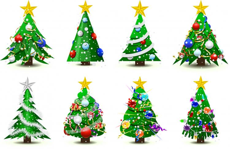 Free christmas vectors download christmas vector images and art free - Gorgeous Christmas Tree Vector