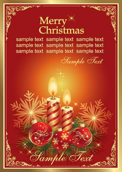 free vector Gorgeous christmas vector