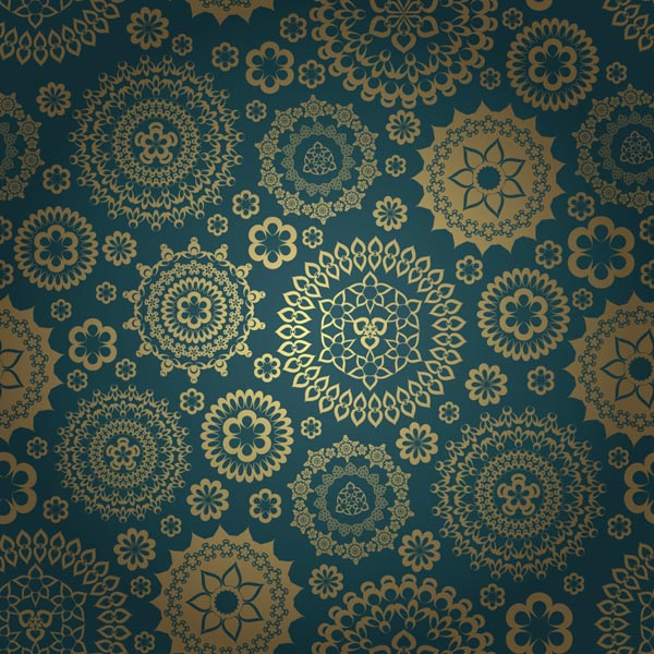 Gorgeous classic pattern background vector Free Vector / 4Vector