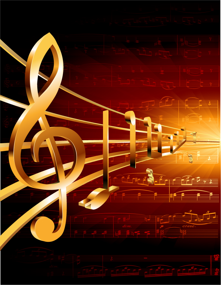 Gorgeous Classical Music Background 05 Vector Free Vector 4vector