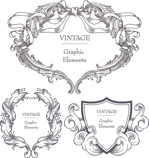free vector Gorgeous classical pattern vector