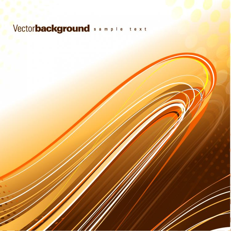 free vector Gorgeous dynamic flow line 02 vector