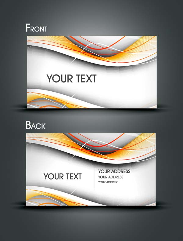 free vector Gorgeous dynamic flow line card vector