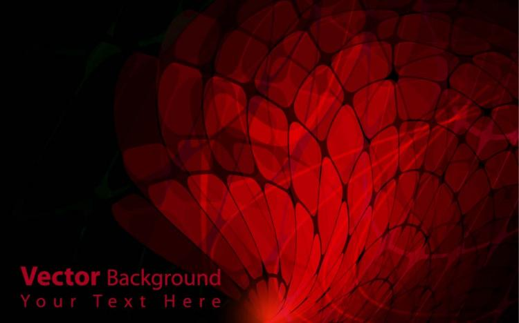 free vector Gorgeous dynamic red background box 02 vector