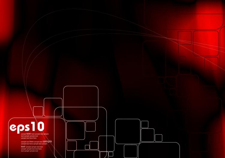 free vector Gorgeous dynamic red background box 04 vector