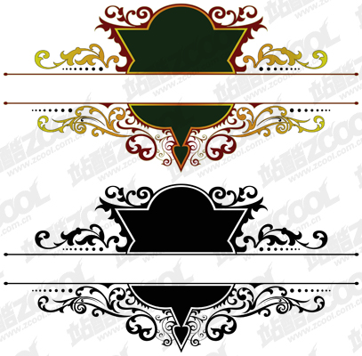 free vector Gorgeous European-style classical pattern vector