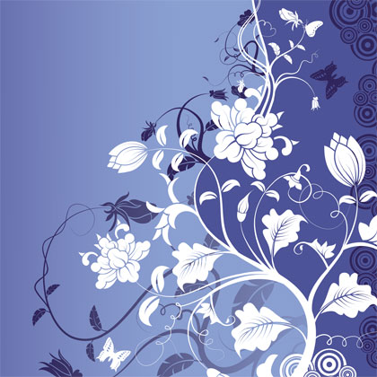 free vector Gorgeous Fashion Flower Background