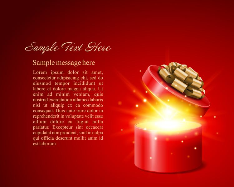 free vector Gorgeous Festive Vector Background Label Gorgeous