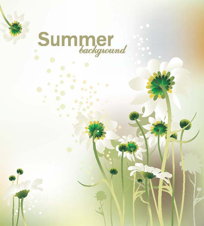free vector Gorgeous flower background vector