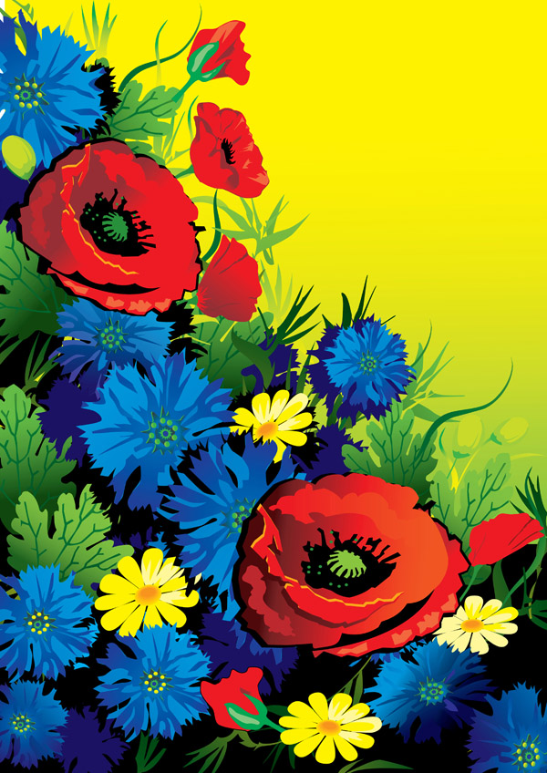 free vector Gorgeous flowers vector