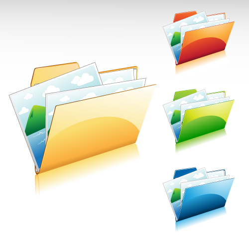 free vector Gorgeous folder icon vector