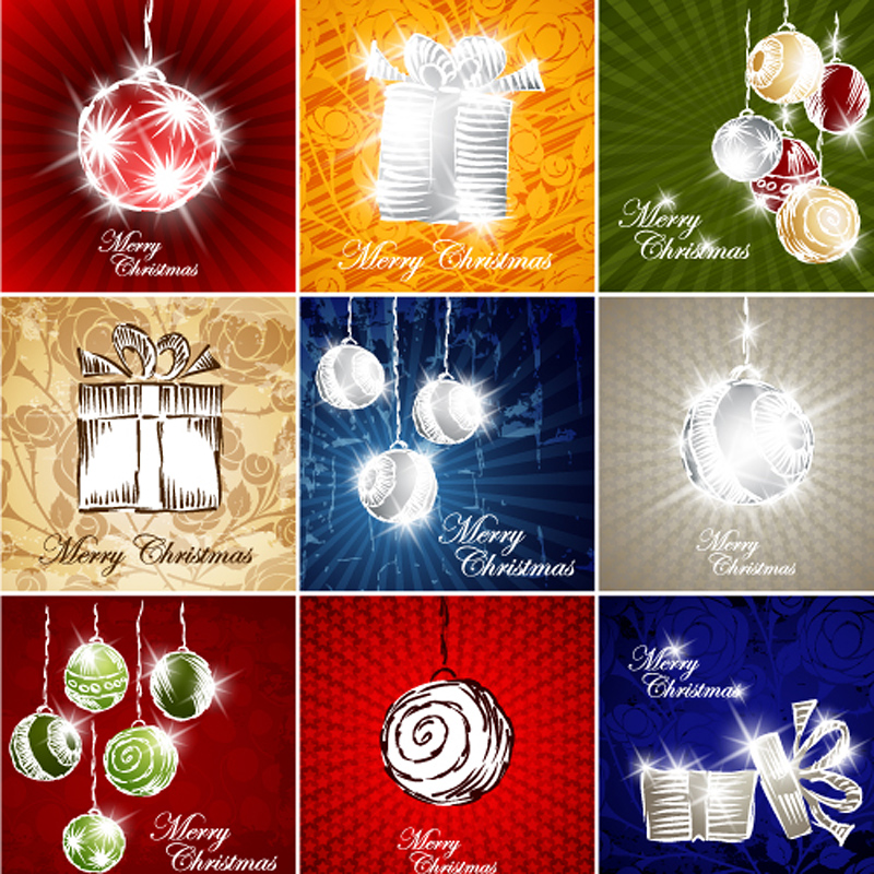 free vector Gorgeous gift lines 01 vector