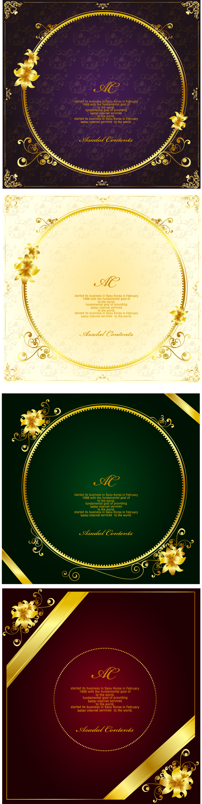 free vector Gorgeous gold lace border vector 10