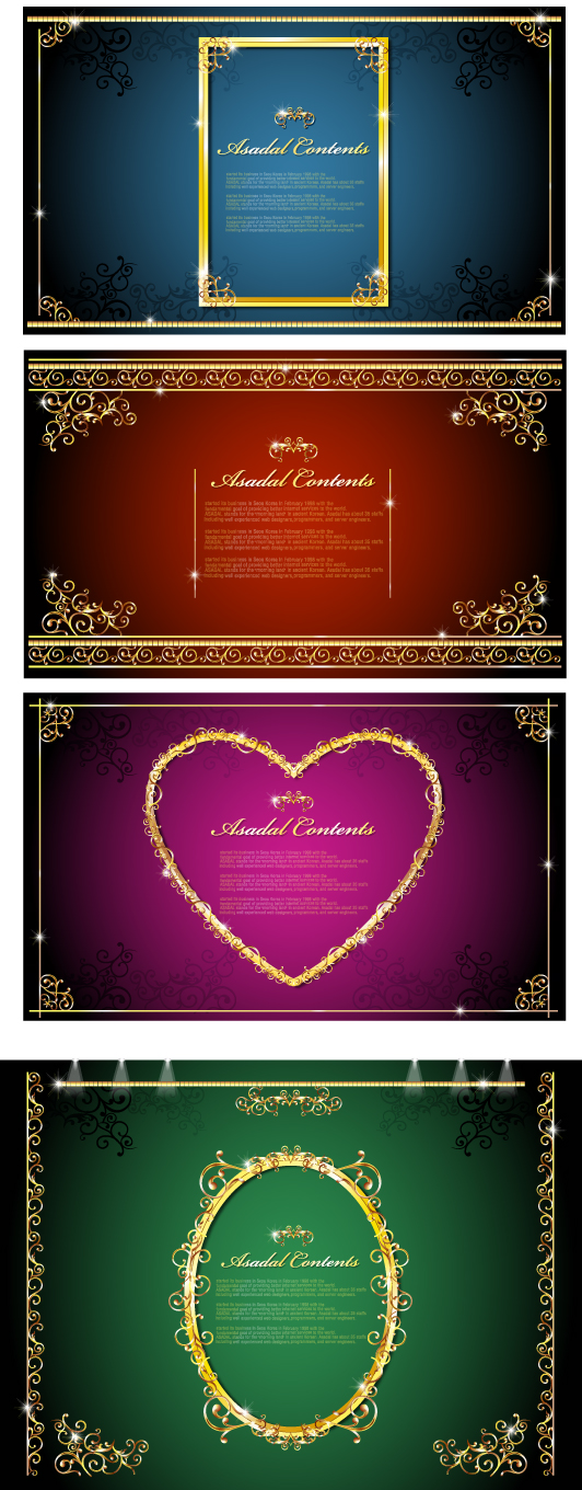 free vector Gorgeous gold lace border vector 1