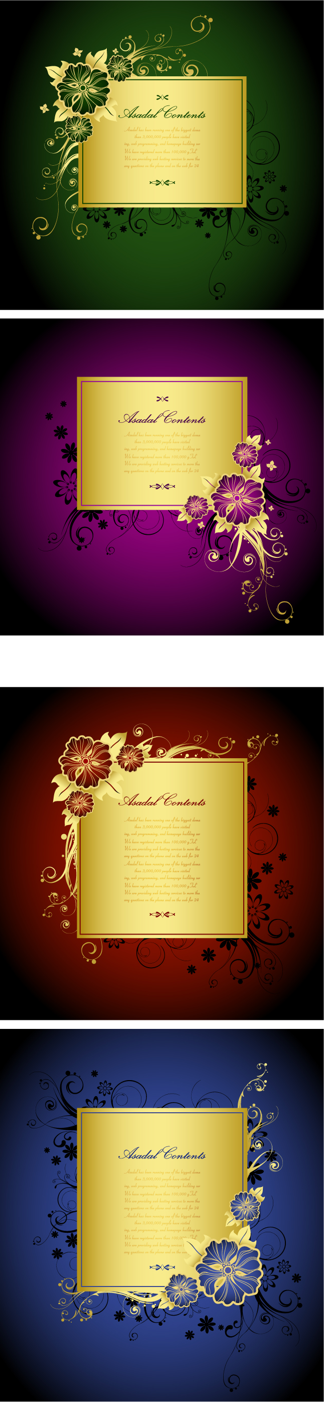 free vector Gorgeous gold lace border vector 2
