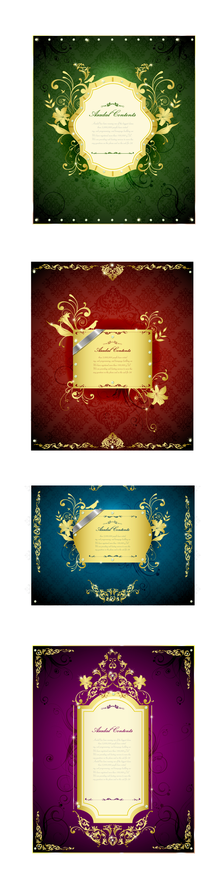 free vector Gorgeous gold lace border vector 3