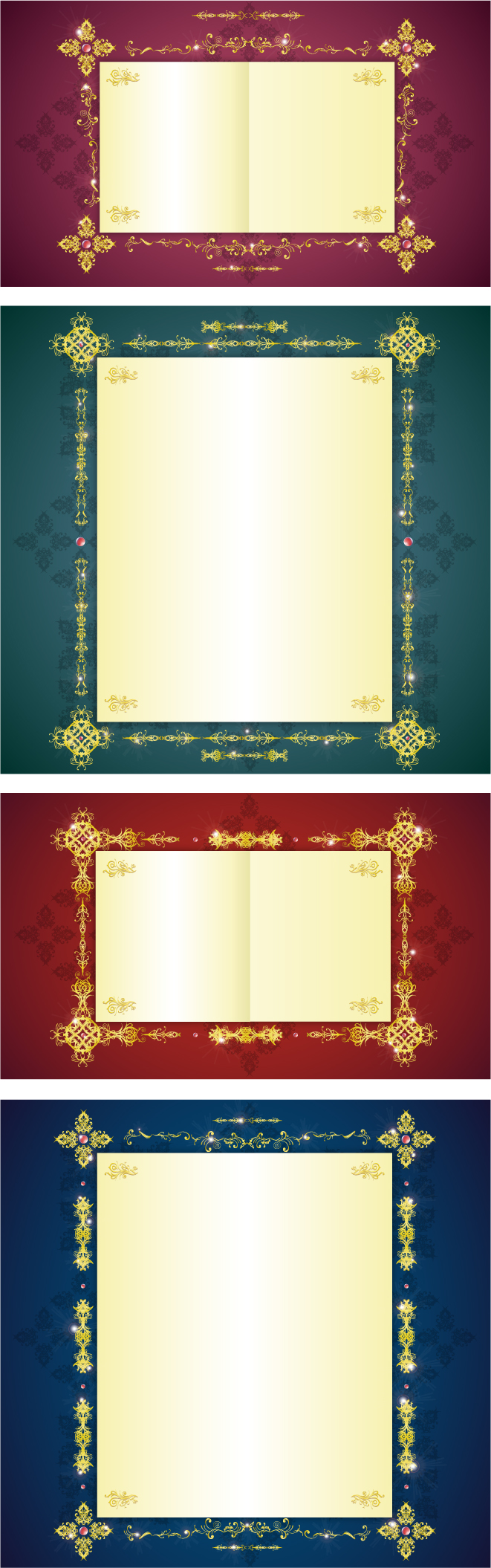 free vector Gorgeous gold lace border vector 7
